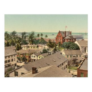 Key West 1900 Historic Color Photo Postcard