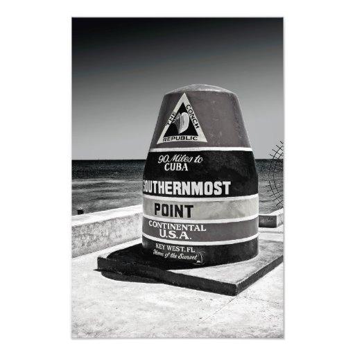 Key West al marcador más situado más al sur de la Cojinete