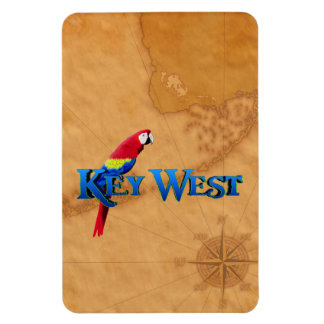 Key West And Map Rectangular Magnet