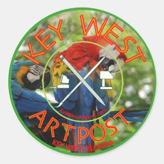 Key West Artpost Classic Round Sticker