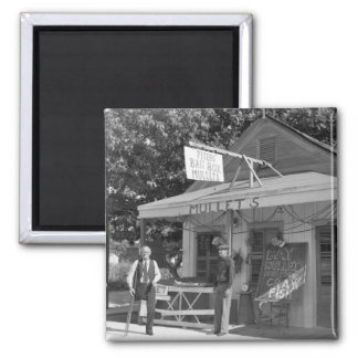 Key West Bait Shop, 1930s 2 Inch Square Magnet
