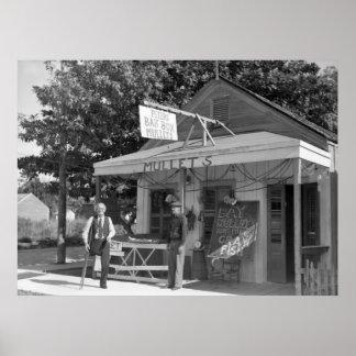 Key West Bait Shop, 1938 Print