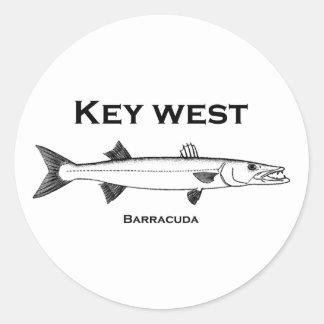Key West Barracuda Classic Round Sticker