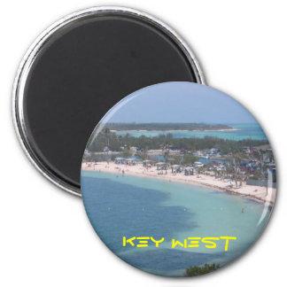 Key West Beach 2 Inch Round Magnet