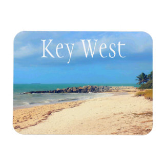Key West Beach, Fort Zachary Taylor State Park Rectangular Photo Magnet