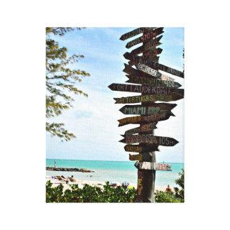Key West Beach Landscape Photo Canvas