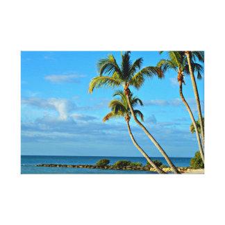 Key West Beach Photo Canvas
