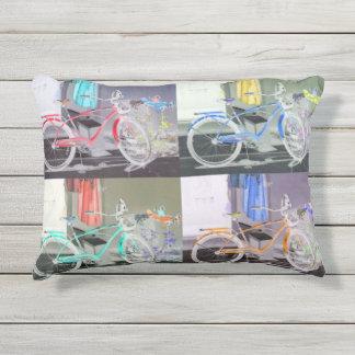 Key West Bicycle Outdoor Pillow