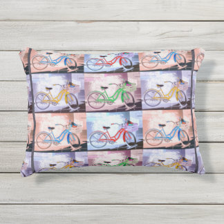 Key West Bicycle Pattern Outdoor Pillow