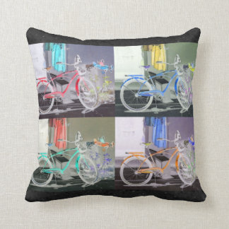 Key West Bicycle Throw Pillow
