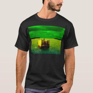 Key West Birds with green sunlit sky T-Shirt