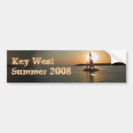 Key West Car Bumper Sticker