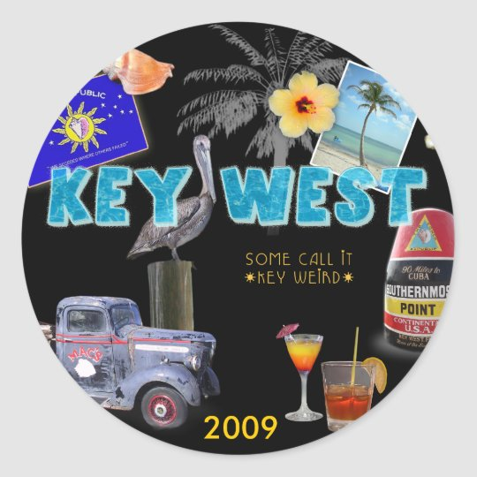 Key West Classic Round Sticker