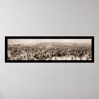 Key West entrena a la foto 1912 de la llegada Poster