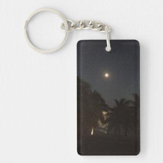 Key West está en la luna Llavero Rectangular Acrílico A Una Cara