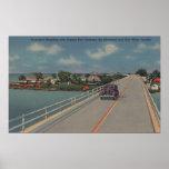 Key West, FL - carretera entre el continente y las Póster