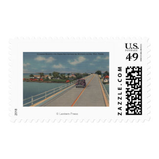 Key West, FL - Highway between Mainland & Keys Postage