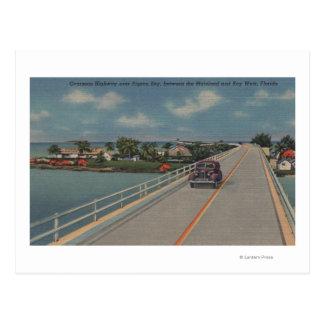 Key West, FL - Highway between Mainland & Keys Postcard