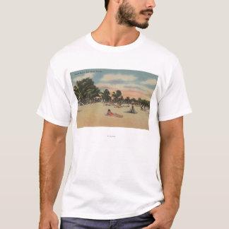 Key West, FL - View of South Beath w/ Sunbathers T-Shirt