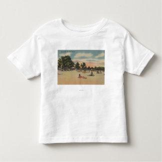 Key West, FL - View of South Beath w/ Sunbathers Toddler T-shirt