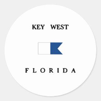 Key West Florida Alpha Dive Flag Stickers