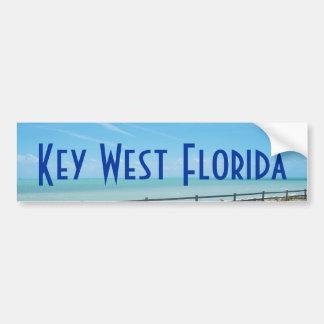 Key West Florida Aquamarine Ocean Bumper Sticker Car Bumper Sticker
