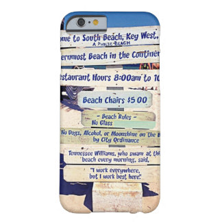 key west florida beach sign barely there iPhone 6 case