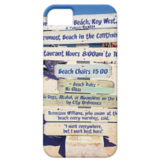 key west florida beach sign iPhone SE/5/5s case