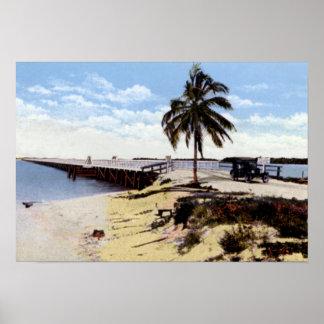 Key West Florida Boca Chica Bridge Oversea Highwa Poster