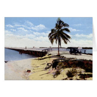 Key West Florida Boca Chica Bridge Oversea Highway Greeting Card