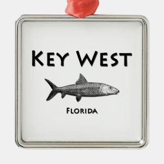 Key West Florida (Bonefish) Metal Ornament