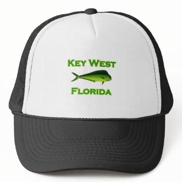USA Themed Key West Florida Fishing Trucker Hat
