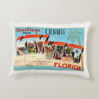 Key West Florida FL Old Vintage Travel Souvenir Accent Pillow