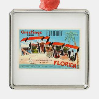 Key West Florida FL Old Vintage Travel Souvenir Metal Ornament