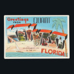 "Key West Florida FL Old Vintage Travel Souvenir Placemat<br><div class=""desc"">Key West,  Florida FL