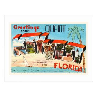 Key West Florida FL Old Vintage Travel Souvenir Postcard