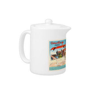 Key West Florida FL Old Vintage Travel Souvenir Teapot