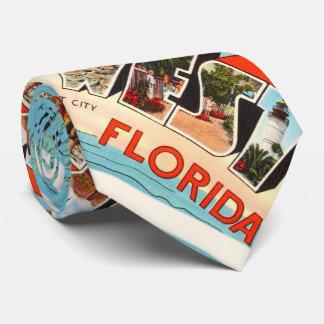 Key West Florida FL Old Vintage Travel Souvenir Tie
