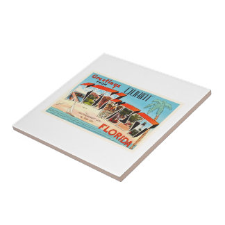 Key West Florida FL Old Vintage Travel Souvenir Tile
