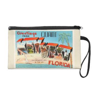 Key West Florida FL Old Vintage Travel Souvenir Wristlet Purse