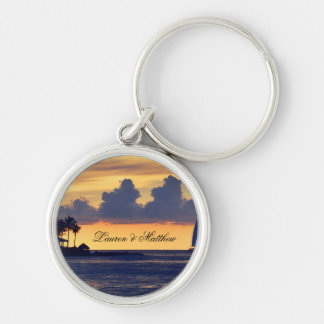 Key West Florida ... get away from it all Silver-Colored Round Keychain
