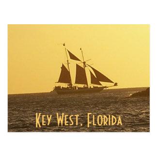 Key West Florida Keys Clipper Ship PostCard Photo