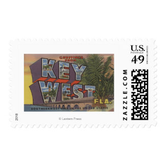 Key West, Florida - Large Letter Scenes Postage