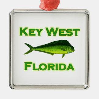 Key West Florida Mahi Mahi Metal Ornament