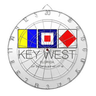 Key West Florida Nautical Flag Art Dart Board
