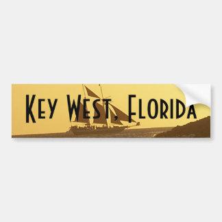 Key West Florida Ocean Clipper Ship Bumper Sticker
