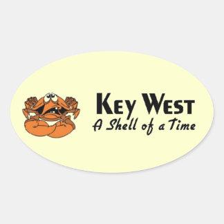 Key West Florida Oval Sticker