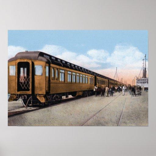 Key West Florida Oversea Express Rail Poster