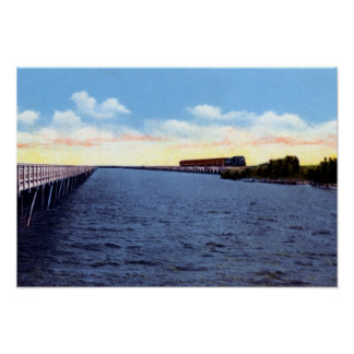 Key West Florida Oversea Highway and Railroad Poster