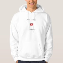 Key West Florida Scuba Dive Flag Hoodie